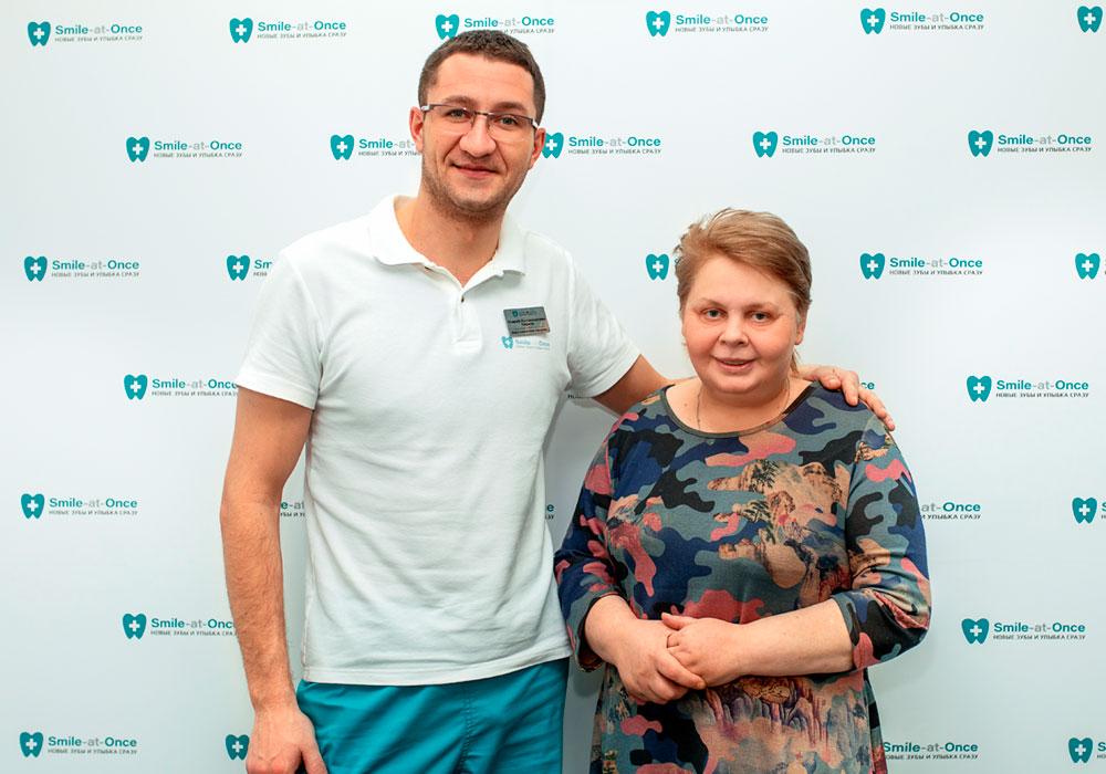 Елена Молодцова в клинике Smile-at-Once